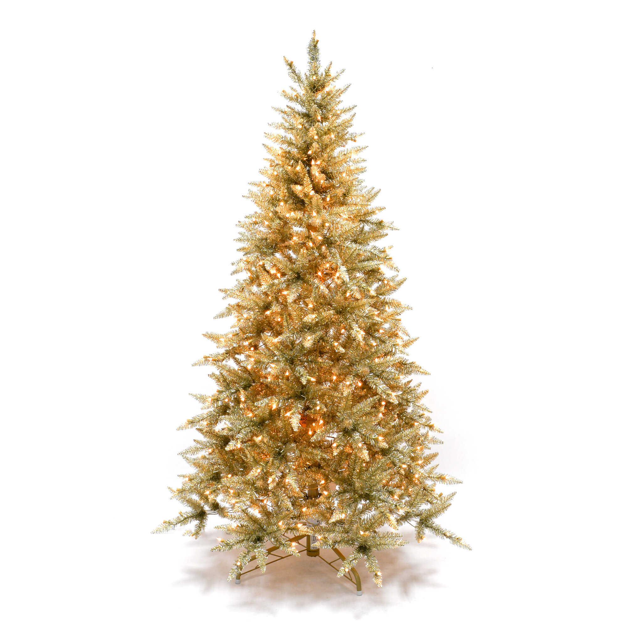 Martha Stewart Gold Artificial Christmas Tree With Clear White Lights Reviews Joss Main
