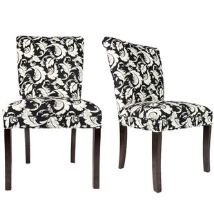 Sole Designs Roll Back Spring Upholstered Side Chair (Set of 2)