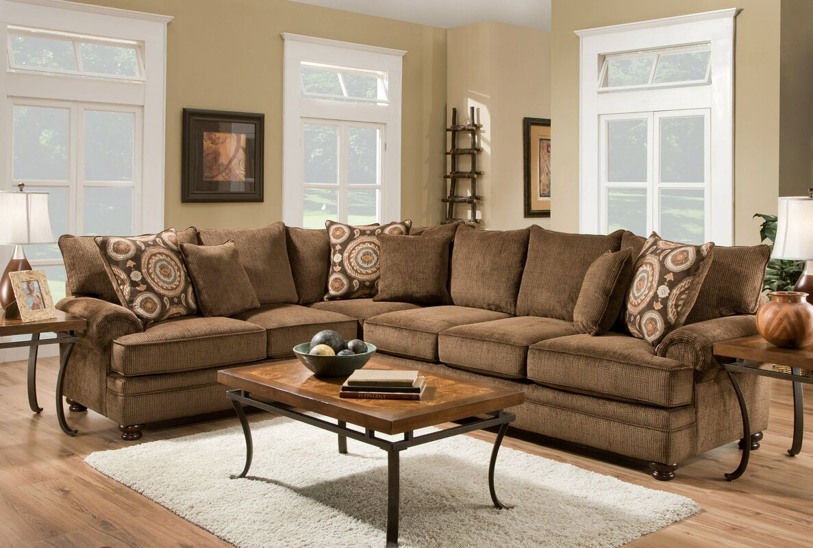 Bloomsbury Market Sealy Twill Sectional & Reviews | Wayfair
