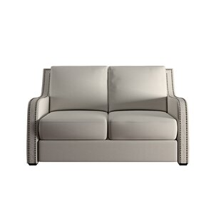 Belgrave Nailhead Loveseat by House of Hampton