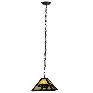 Meyda Tiffany Lone Bear 1-Light Dome Pendant