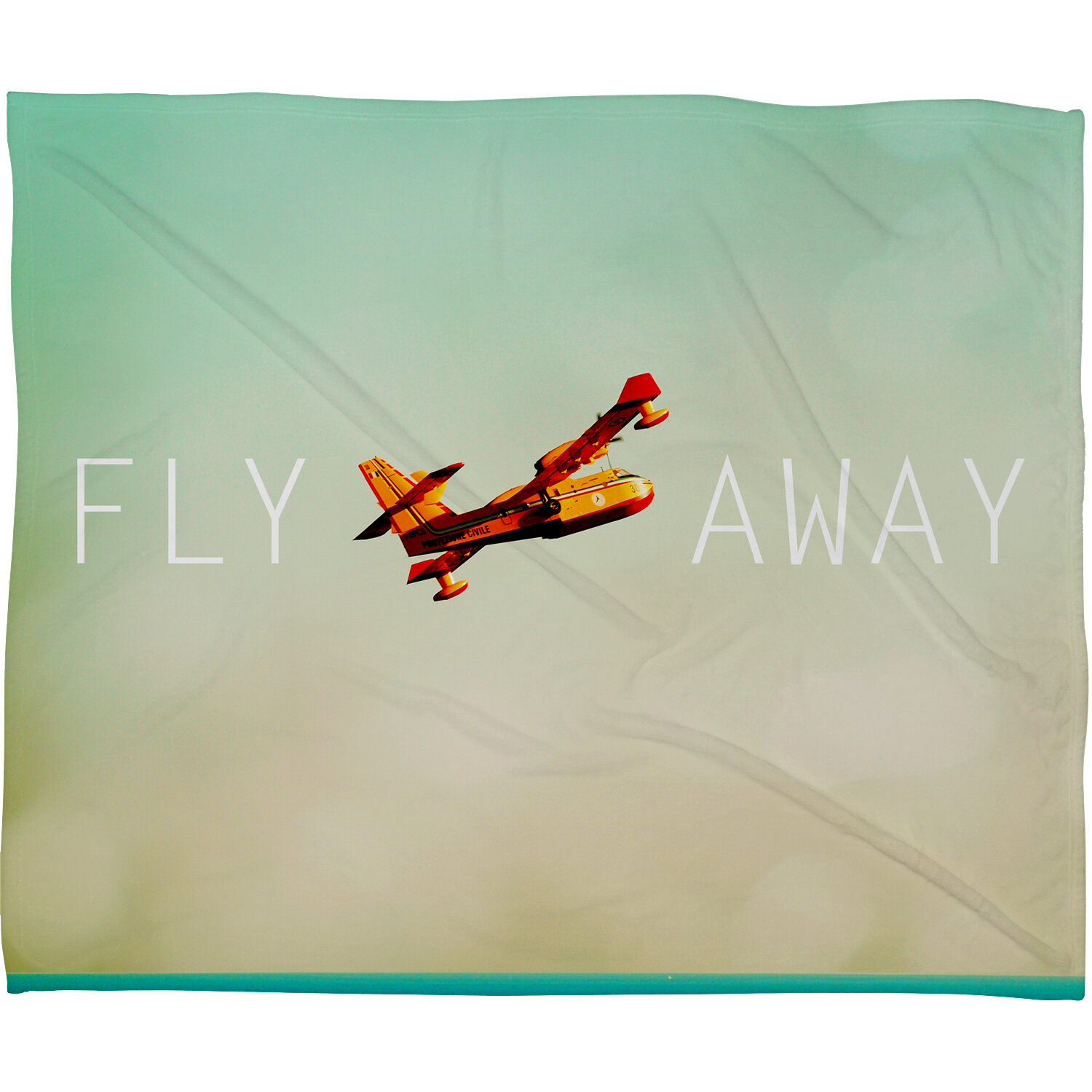 Patio Umbrella Flying Away: Deny Designs Happee Monkee Fly Away Throw Blanket