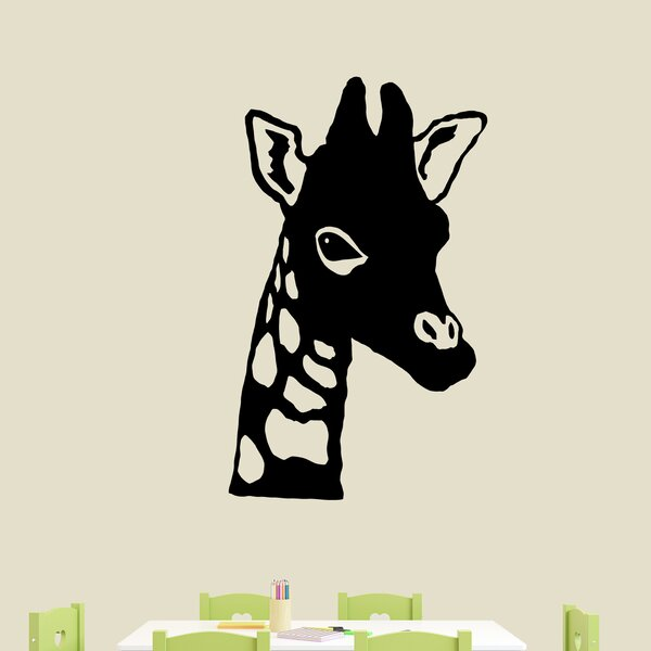 harriet bee birkett giraffe head wall decal | wayfair