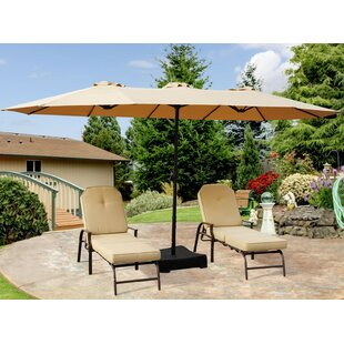 Brantley 15' x 8.5' Rectangular Market Umbrella by Alcott Hill