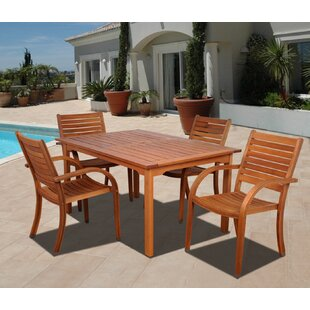 Beachcrest Home Frye 5 Piece Dining Set