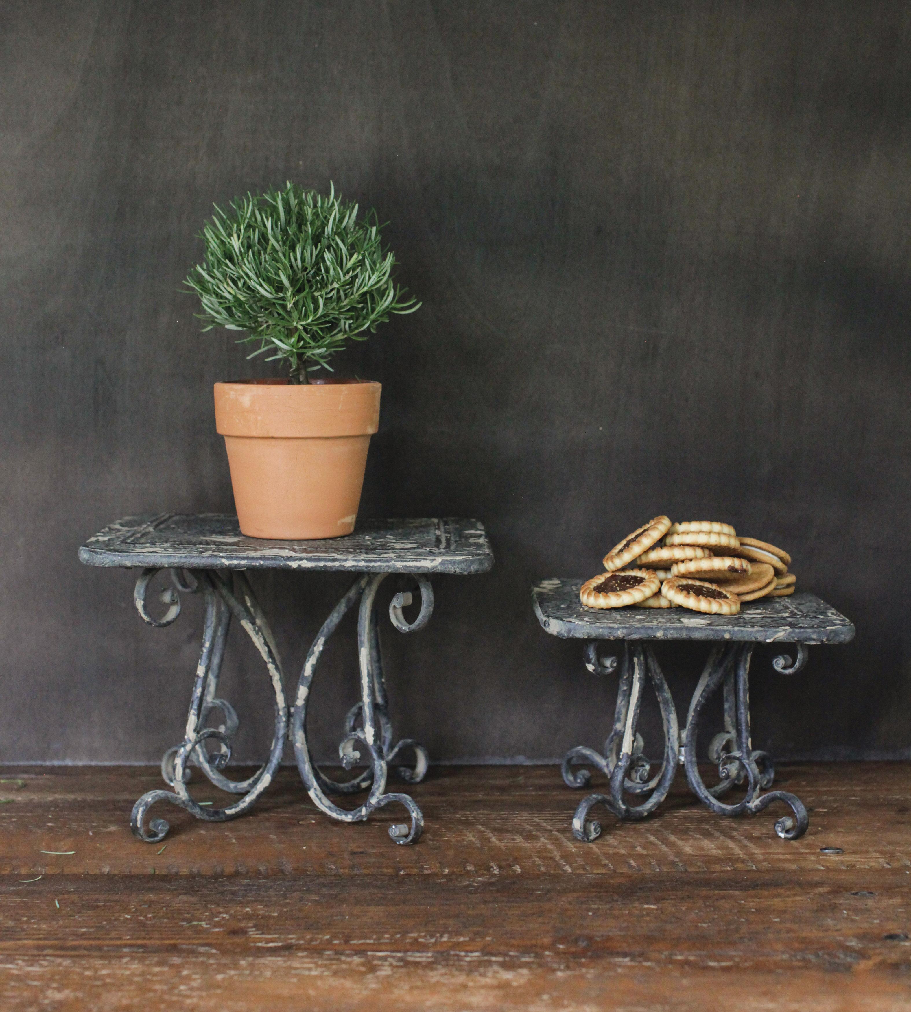 Ophelia Co Knopp Decorative 2 Piece Plant Stand Set Reviews Wayfair