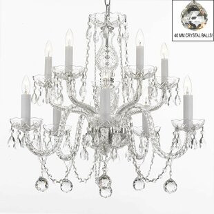 Kahler Swarovski 10-Light Candle Style Chandelier by House of Hampton