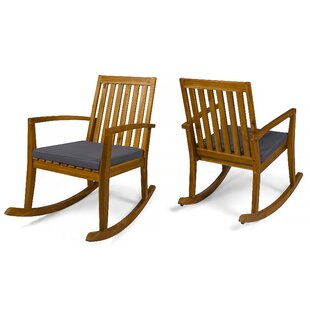 Brookport Rocking Chair with Cushions (Set of 2) by Union Rustic