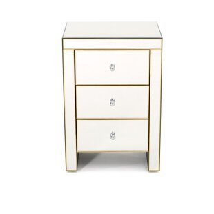 Seaman 3 Drawer Nightstand by House of Hampton