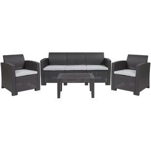 Fairbanks 4 Piece Conversation Set with Cushions