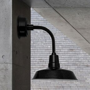 Trim Oldage 1-Light LED Barn Light by Cocoweb