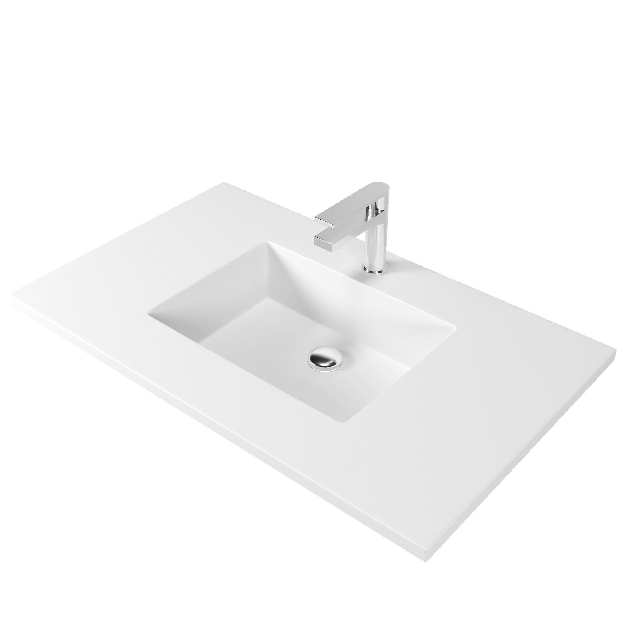 Castellousa 36 Single Bathroom Vanity Top With Sink Reviews Wayfair