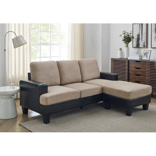 Latitude Run Doodnath 72 5 Faux Leather Right Hand Facing Sofa Chaise Reviews Wayfair