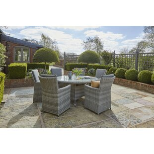 Odysseus 6 Seater Dining Set With Cushions By Sol 72 Outdoor