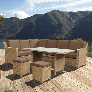 8-Sitzer Sofa-Set Lewis aus Rattan von Home Loft Concept