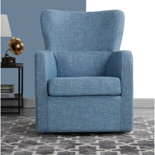 Aucoin Swivel Armchair by Wrought Studio
