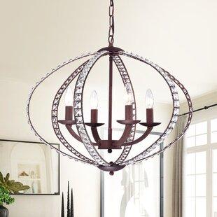 House of Hampton Adalrik 4-Light Crystal Chandelier