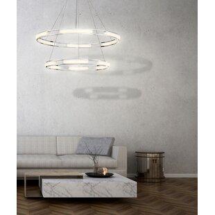 Orren Ellis Sturtz 6-Light LED Geometric Chandelier
