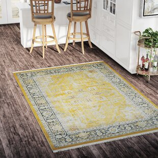 Lonerock Yellow Area Rug by Bungalow Rose