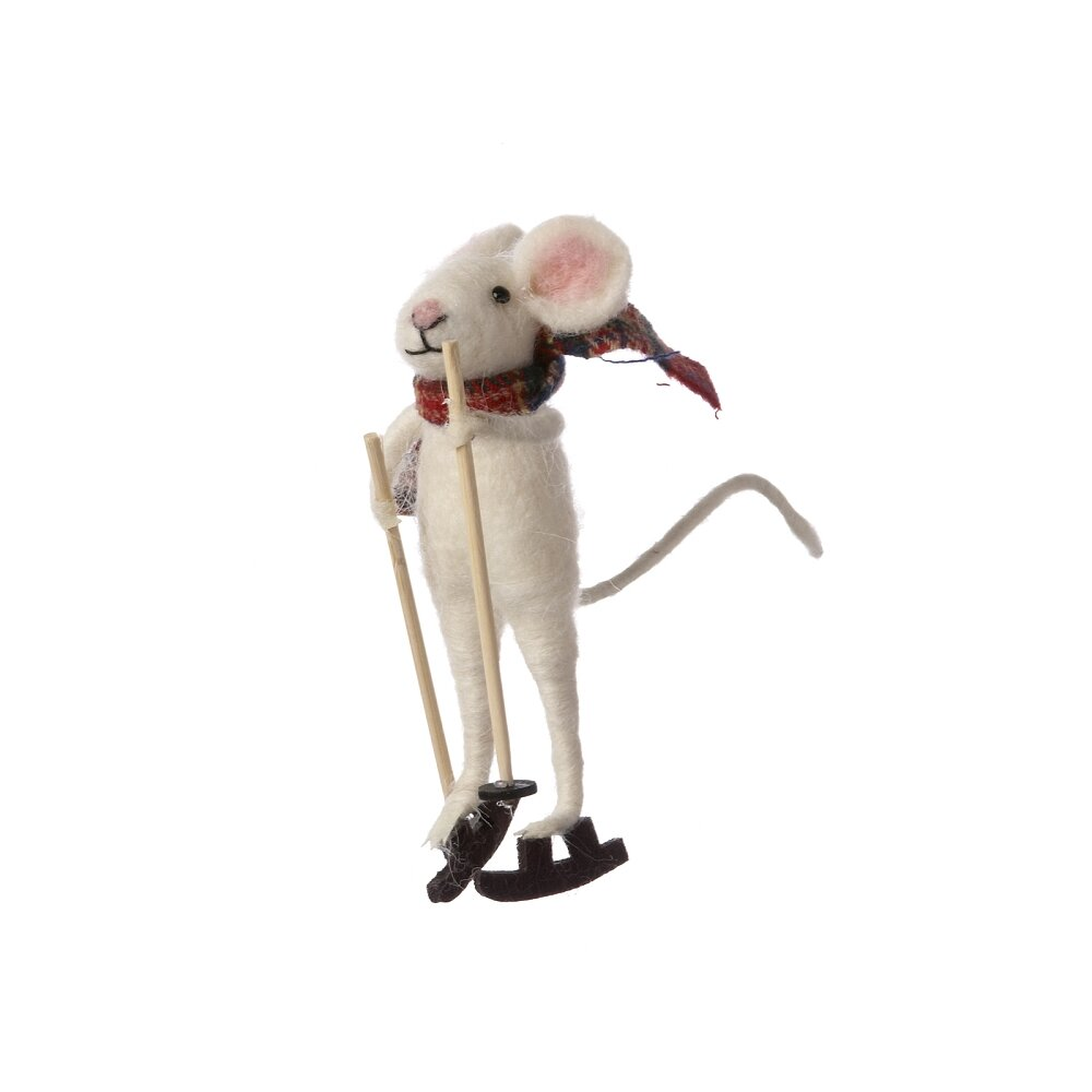The Holiday Aisle Forada Skiing Mouse Wayfair