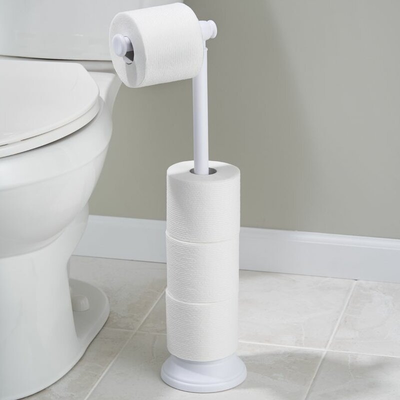 White Toilet Paper Holders You\'ll Love | Wayfair
