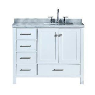 Erithon 43 Rectangular Single Bathroom Vanity Set By Three Posts