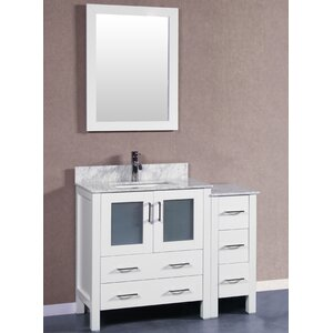 42 Single Vanity Set with Mirror