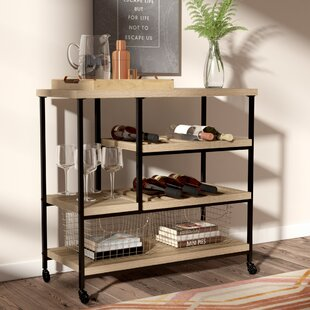 Borealis Kitchen Cart With Wooden Top By Wrought Studio