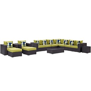 Brentwood 11 Piece Sectional Set with Cushions