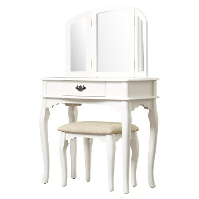 Otega Vanity Set with Mirror Color: Off-White by Alcott Hill
