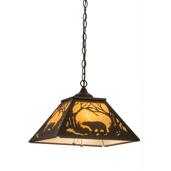 Falcone Moose And Bear 2 Light Novelty Chandelier