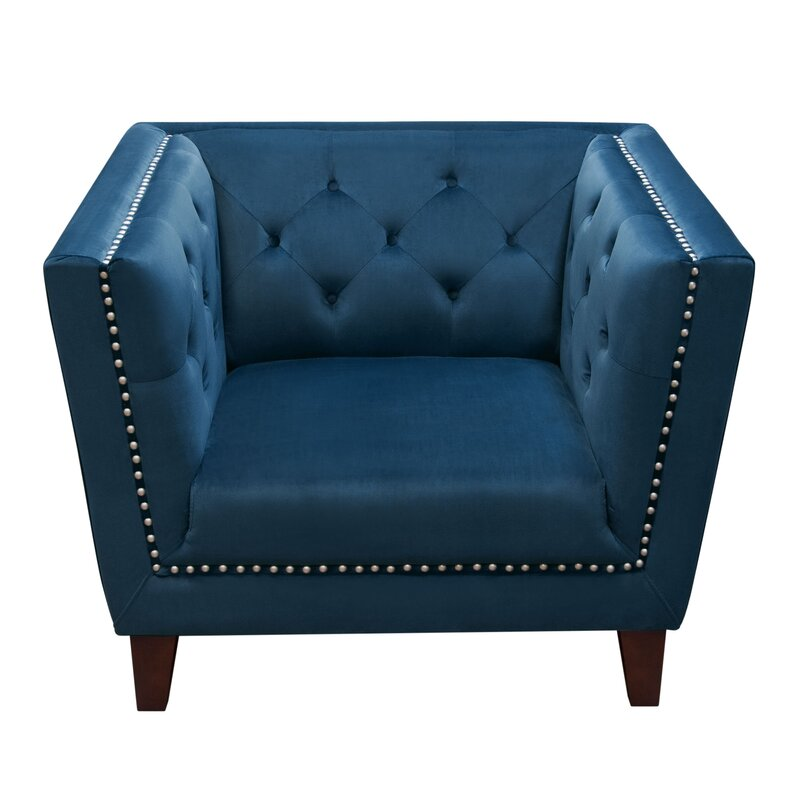 Grand Tufted Back Accent Arm Chair