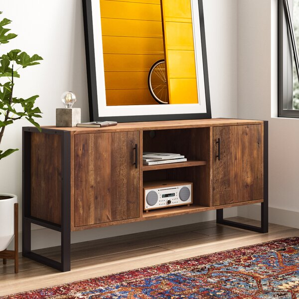 Rustic Solid Reclaimed wood 70 inch TV stand Media Center  Sideboard with 4 doors and shelves
