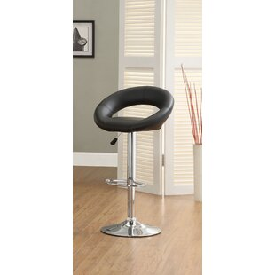 Theory Adjustable Height Swivel Bar Stool (Set of 2) Hokku Designs