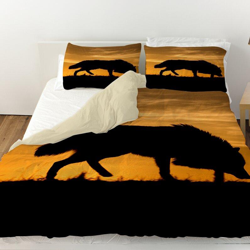 Wolf Silhouette Duvet Cover