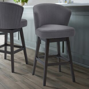 Khan 26.5 Swivel Bar Stool Brayden Studio