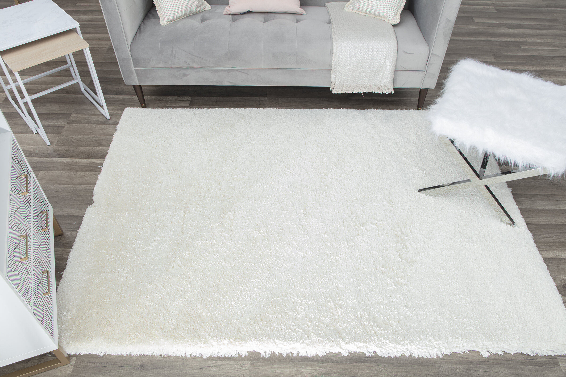 Cosmoliving By Cosmopolitan Handmade Shag White Area Rug Wayfair