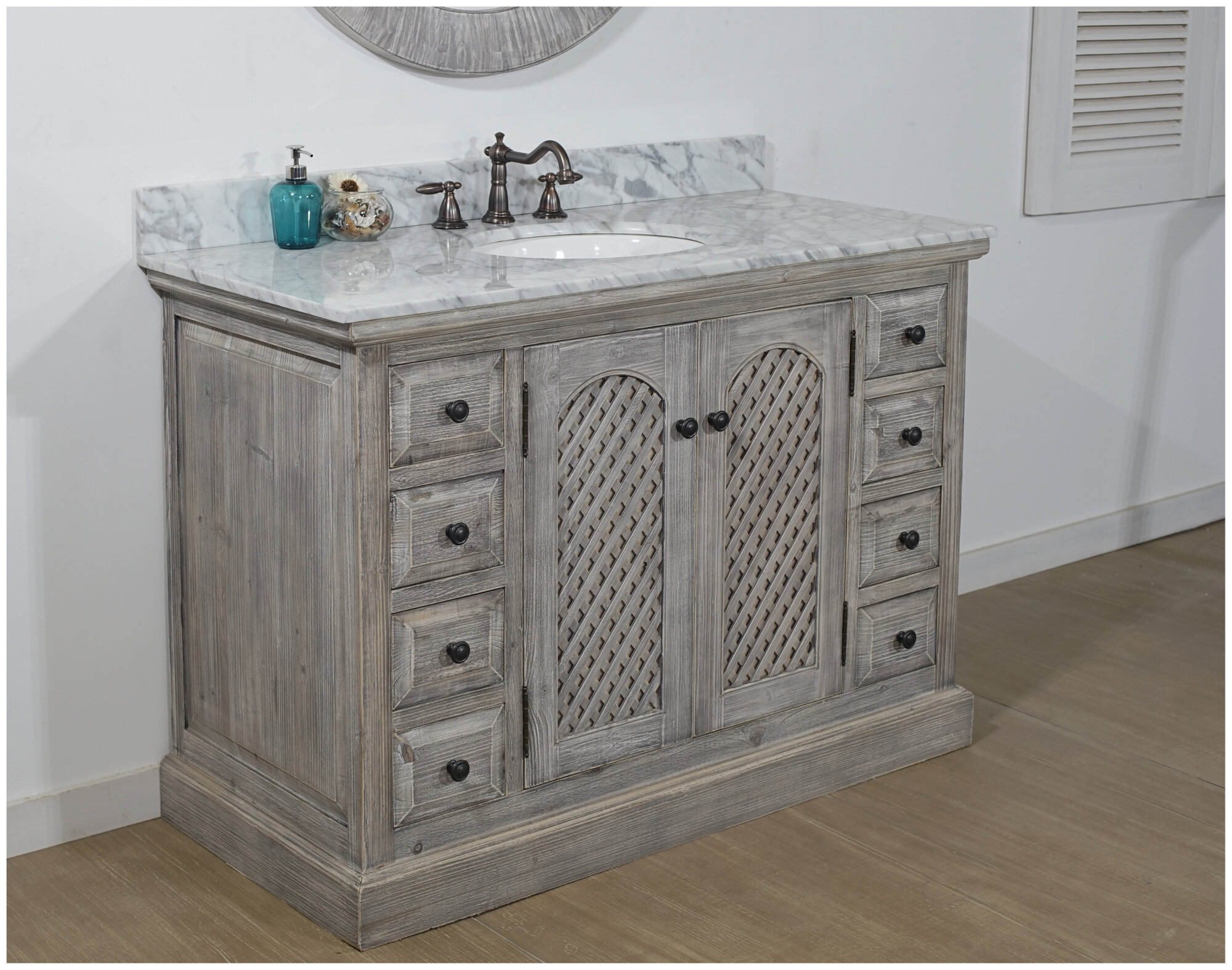 Lovejoy 48 Rustic Single Bathroom Vanity Set