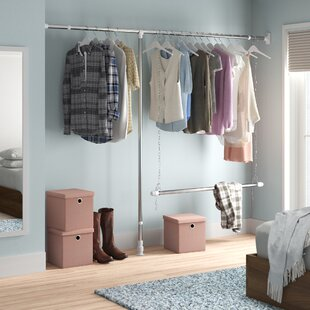 Swensen Extandable 250cm Wide Clothes Storage System By Wayfair Basics