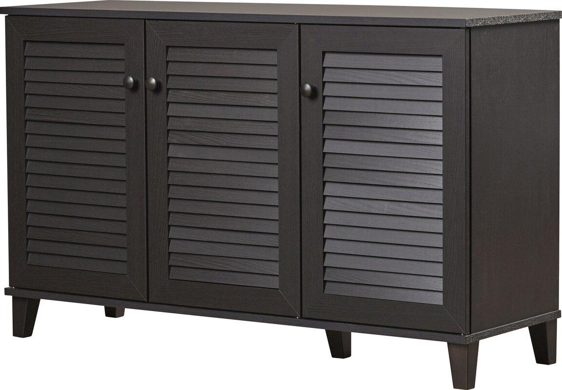 default_name - Rebrilliant 25-Pair Shoe Storage Cabinet & Reviews Wayfair