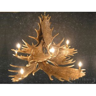 Millwood Pines Ben Moose 8-Light Novelty Chandelier