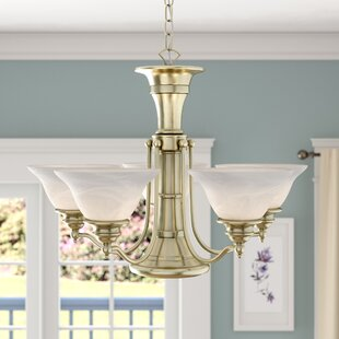 Charlton Home Budd Traditional 6-Light Shaded Chandelier