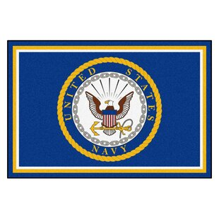 U.S. Navy Blue/Yellow Area Rug By FANMATS