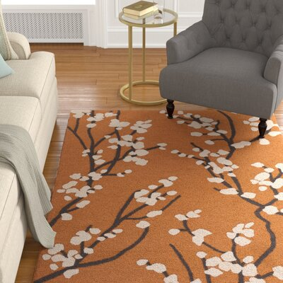 Fantastic Dykstra Hand Crafted Orangeivory Area Rug Charlton Home Rug Alphanode Cool Chair Designs And Ideas Alphanodeonline