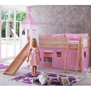 Gia European Single Mid Sleeper Bed With Tower By Harriet Bee