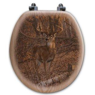WGI-GALLERY Great Eight Oak Round Toilet Seat