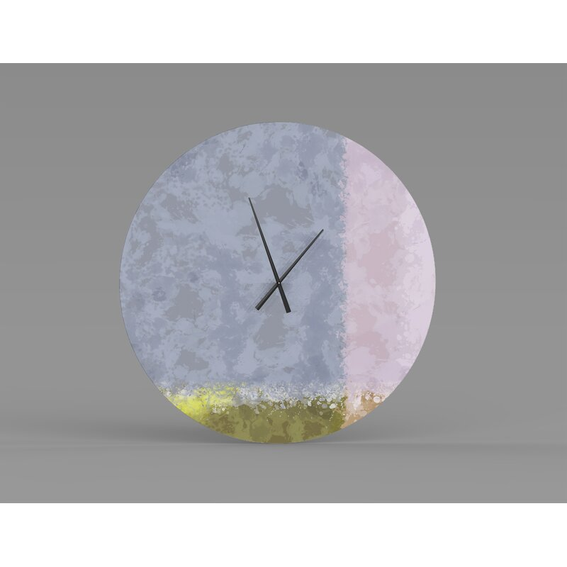 East Urban Home Tessa Wall Clock Wayfair