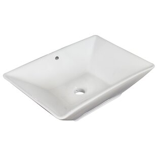 Best Ceramic Rectangular Vessel Bathroom Sink with Overflow By Royal Purple Bath Kitchen
