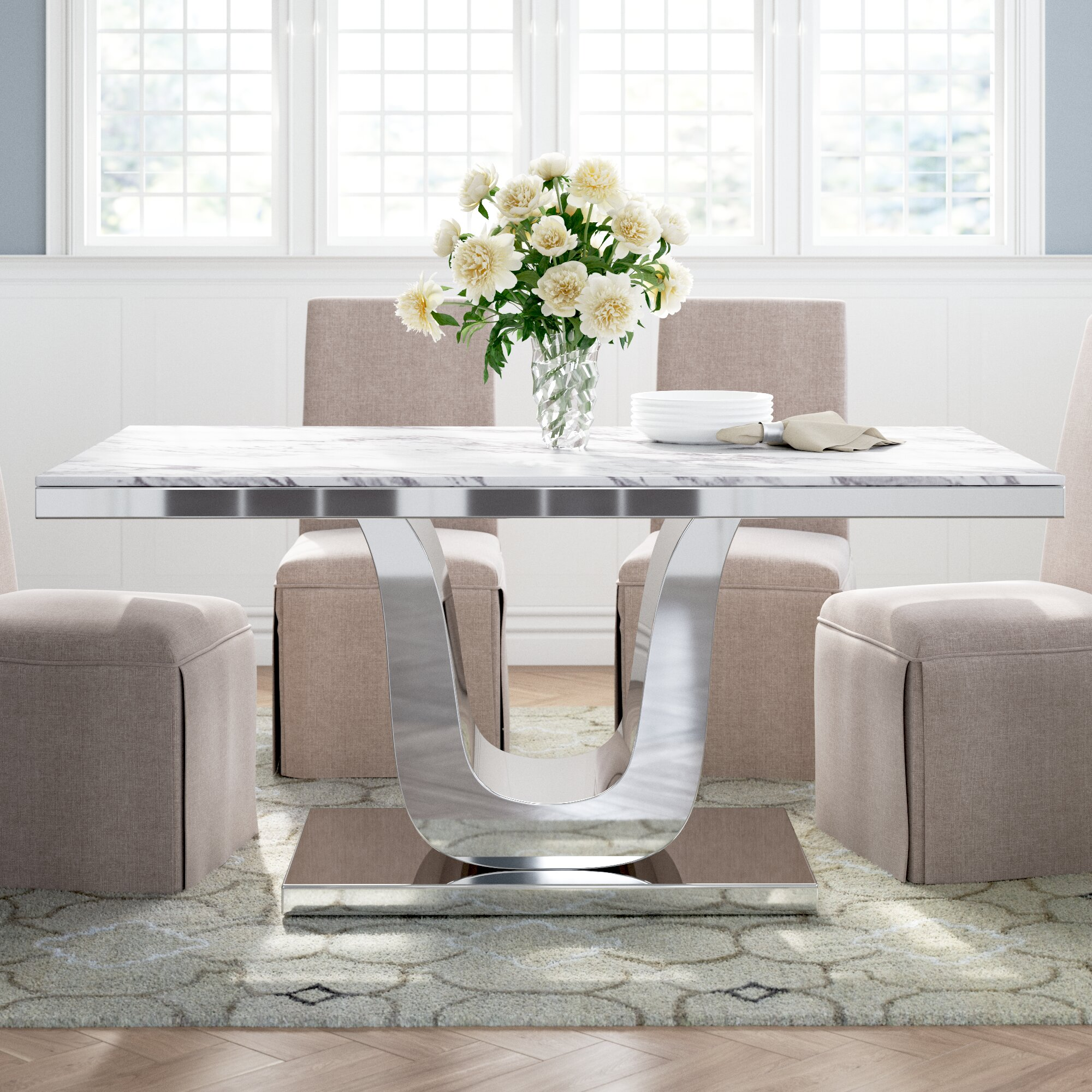 Marble Pedestal Kitchen Dining Tables You Ll Love In 2021 Wayfair