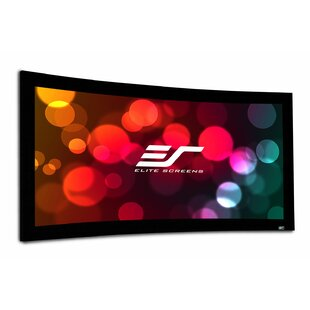 Lunette Series White Curved Fixed Frame Projection Screen
